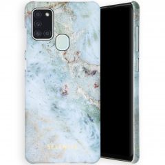 Selencia Maya Fashion Backcover Samsung Galaxy A21s - Marble Blue