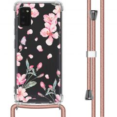 iMoshion Design hoesje met koord Samsung Galaxy A41 - Bloem - Roze