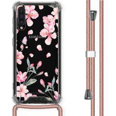 iMoshion Design hoesje met koord Samsung Galaxy A50 - Bloem - Roze