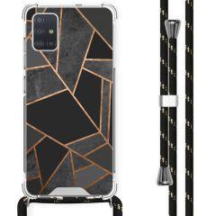 iMoshion Design hoesje met koord Samsung Galaxy A51 - Grafisch Koper