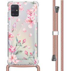 iMoshion Design hoesje met koord Samsung Galaxy A51 - Bloem - Roze