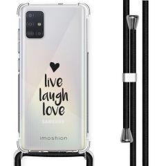 iMoshion Design hoesje met koord Samsung Galaxy A51 - Live Laugh Love