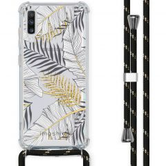 iMoshion Design hoesje met koord Samsung Galaxy A70 - Bladeren