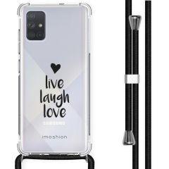 iMoshion Design hoesje met koord Samsung Galaxy A71 - Live Laugh Love