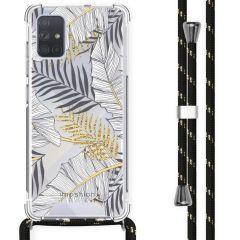 iMoshion Design hoesje met koord Samsung Galaxy A71 - Bladeren