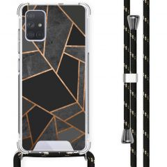 iMoshion Design hoesje met koord Samsung Galaxy A71 - Grafisch Koper