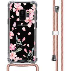 iMoshion Design hoesje met koord Samsung Galaxy S9 - Bloem - Roze