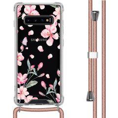 iMoshion Design hoesje met koord Samsung Galaxy S10 Plus - Bloem