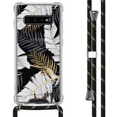 iMoshion Design hoesje met koord Samsung Galaxy S10 Plus - Bladeren