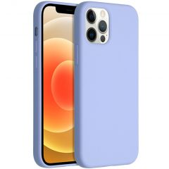 Accezz Liquid Silicone Backcover iPhone 12 (Pro) - Paars