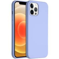 Accezz Liquid Silicone Backcover iPhone 12 Pro Max - Paars