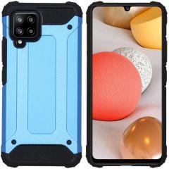 iMoshion Rugged Xtreme Backcover Samsung Galaxy A42 - Lichtblauw