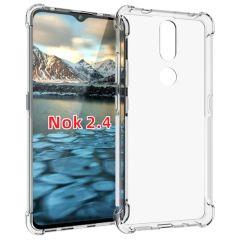 iMoshion Shockproof Case Nokia 2.4 - Transparant