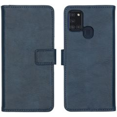 iMoshion Luxe Booktype Samsung Galaxy A21s - Donkerblauw