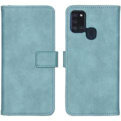 iMoshion Luxe Booktype Samsung Galaxy A21s - Lichtblauw
