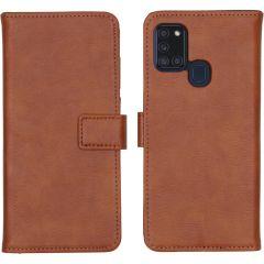 iMoshion Luxe Booktype Samsung Galaxy A21s - Bruin