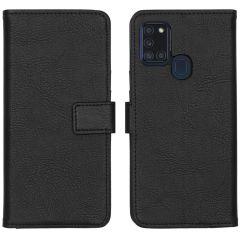 iMoshion Luxe Booktype Samsung Galaxy A21s - Zwart