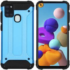 iMoshion Rugged Xtreme Backcover Samsung Galaxy A21s - Lichtblauw