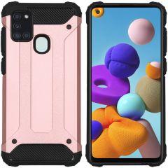 iMoshion Rugged Xtreme Backcover Samsung Galaxy A21s - Rosé Goud