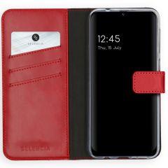 Selencia Echt Lederen Booktype Samsung Galaxy M31 - Rood