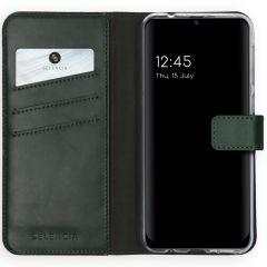 Selencia Echt Lederen Booktype Samsung Galaxy M31 - Groen