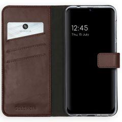 Selencia Echt Lederen Booktype Samsung Galaxy M31 - Bruin