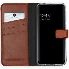 Selencia Echt Lederen Booktype Samsung Galaxy M31 - Lichtbruin