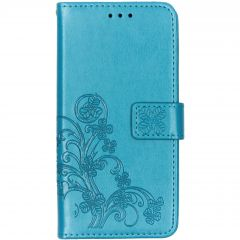 Klavertje Bloemen Booktype Samsung Galaxy A10 - Turquoise