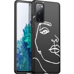 iMoshion Design hoesje Galaxy S20 FE - Abstract Gezicht - Wit
