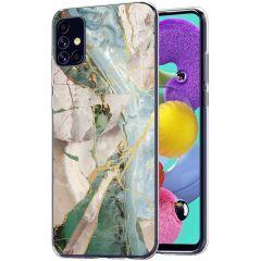 iMoshion Design hoesje Samsung Galaxy A51 - Marmer - Gebroken Beige