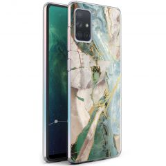 iMoshion Design hoesje Samsung Galaxy A71 - Marmer - Gebroken Beige