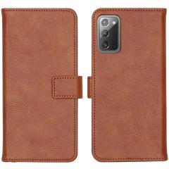 iMoshion Luxe Booktype Samsung Galaxy Note 20 - Bruin