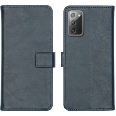 iMoshion Luxe Booktype Samsung Galaxy Note 20 - Donkerblauw