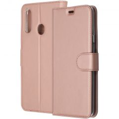 Accezz Wallet Softcase Booktype Samsung Galaxy A20s - Rosé Goud