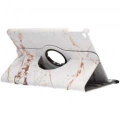 360° Draaibare Design Bookcase iPad Air 2 - Wit Marmer