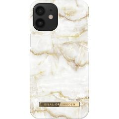 iDeal of Sweden Fashion Backcover iPhone 12 Mini - Golden Pearl Marble