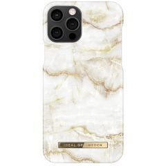 iDeal of Sweden Fashion Backcover iPhone 12 (Pro) - Golden Pearl Marble