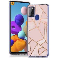 iMoshion Design hoesje Samsung Galaxy A21s - Grafisch Koper - Roze