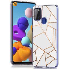 iMoshion Design hoesje Samsung Galaxy A21s - Grafisch Koper - Wit