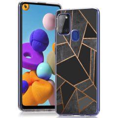 iMoshion Design hoesje Samsung Galaxy A21s - Grafisch Koper - Zwart