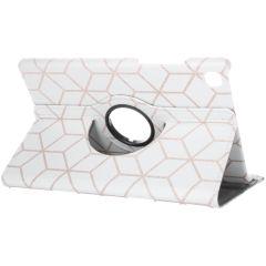 360° Draaibare Design Bookcase Galaxy Tab A7 - Cubes