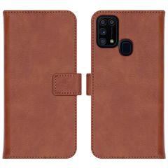 iMoshion Luxe Booktype Samsung Galaxy M31 - Bruin