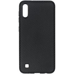 Carbon Softcase Backcover Samsung Galaxy A10 - Zwart
