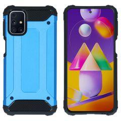 iMoshion Rugged Xtreme Backcover Samsung Galaxy M31s - Lichtblauw