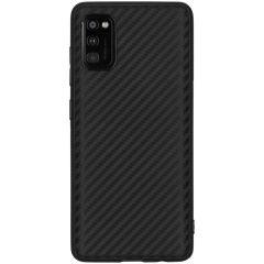 Carbon Softcase Backcover Samsung Galaxy A41 - Zwart