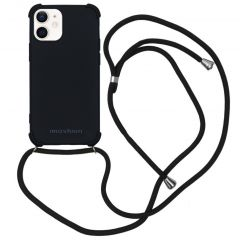 iMoshion Color Backcover met koord iPhone 12 Mini - Zwart