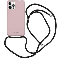 iMoshion Color Backcover met koord iPhone 12 (Pro) - Roze