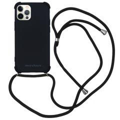 iMoshion Color Backcover met koord iPhone 12 (Pro) - Zwart