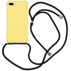 iMoshion Color Backcover met koord iPhone 8 Plus / 7 Plus - Geel