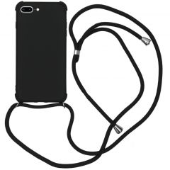 iMoshion Color Backcover met koord iPhone 8 Plus / 7 Plus - Zwart